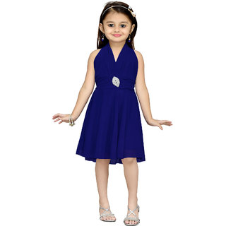 Aarika Girls Blue Layered Dress