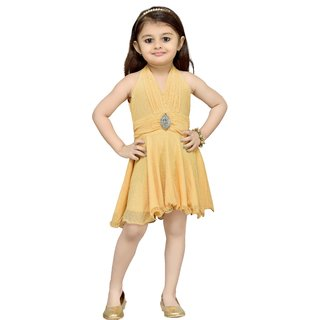 Aarika Girls Fawn Layered Dress
