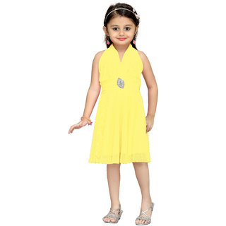 Aarika Girls Gold Layered Frock