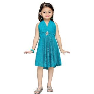 Aarika Girls Green Layered Dress