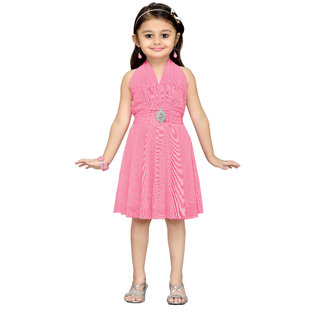 Aarika Girls Pink Layered Frock