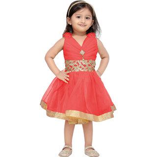 Aarika Girls Gajri Party Frock