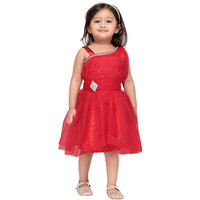 Aarika Girls Red Party Frock