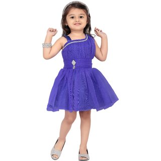Aarika Girls Blue Party Frock