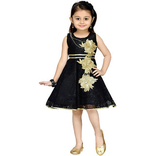 Aarika Girls Black Party Frock