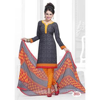 Trendz Apparels Black American Crepe Straight Fit Salwar Suit