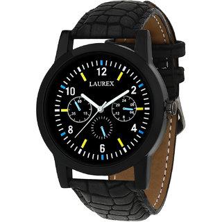 Laurex Analog Round Casual Wear Watches for Men LX-053