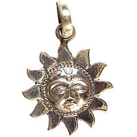Lord Surya In Copper Pendant