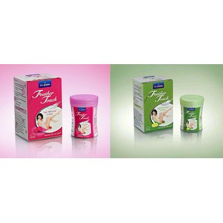 VI-JOHN Feather Touch Hair Removal Cream( 3 Lime flavour + 3 Rose flavour) For Women (set of 6 pcs.)