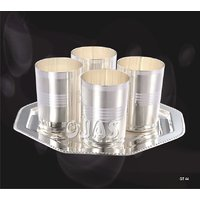 Ojas Silver Plated Glass Set