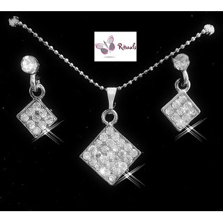 Rituals Cz Diamond Pendant Set