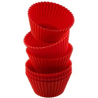 SILICONE ROUND SHAPE BAKEWARE CAKE, MUFFINS TART AND CUP CAKE MOULDS - SET OF 3PCS