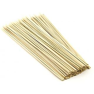 100 Pcs 8 inches Bamboo Barbecue Party Sticks Kebab Skewers Long Toothpicks