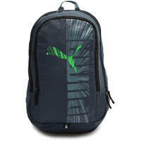 Puma Graphic Grey And Green Backpack