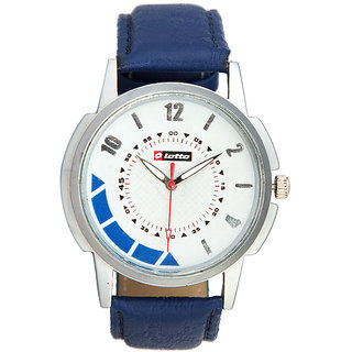 Lotto Round Dial Blue Leather Strap Analog Men's Watch
