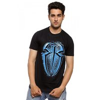 Attitude Men's Black Round Neck T-Shirt