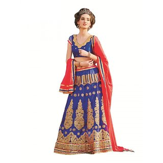 a850417e0888 Melluha New Designer Blue Color Party Festive Wear Net Lehenga available at  ShopClues for Rs.