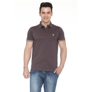 Solid Men's Brown T - Shirt