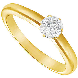Lovebrightjewelry Diamond Solitaire 14K Yellow Gold Ring-0.25 Ct