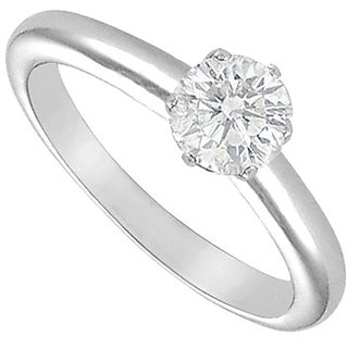 Lovebrightjewelry Classic Diamond Solitaire Ring 18K White Gold 0.75 Ct