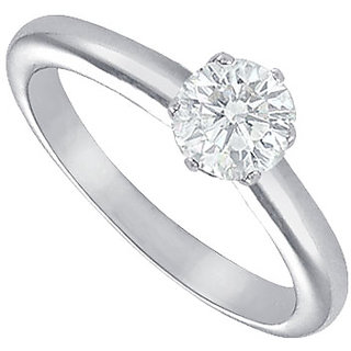 Lovebrightjewelry Classic Diamond Solitaire Ring Platinum 0.75 Ct