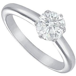 Lovebrightjewelry In Vogue Diamond Solitaire Ring Platinum 1.25 Ct