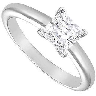 Lovebrightjewelry Diamond Solitaire Ring 18K White Gold 1.25 Ct