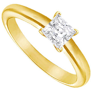 Lovebrightjewelry Diamond Solitaire Ring 18K Yellow Gold 0.50 Ct