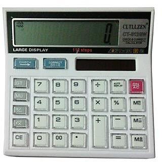 white colour crystal Button Calculator