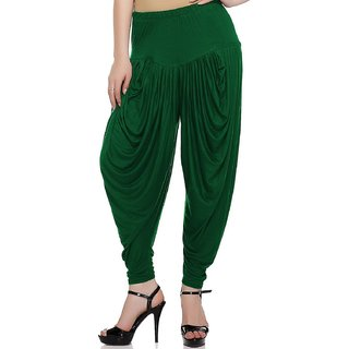 Women,Green patiala Dhoti salwar