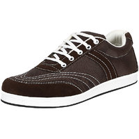 Kacey Brown  White Canvas Casual Lace Up Shoes