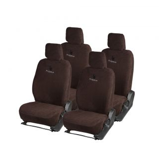 Pegasus Premium Brown Cotton Car Seat Cover For Hyundai Santro