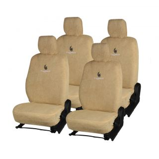 Pegasus Premium Beige Cotton Car Seat Cover For Nissan Micra