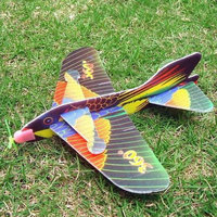 Magideal 1pc Kids Foam Flying Glider Planes Toys Random Color