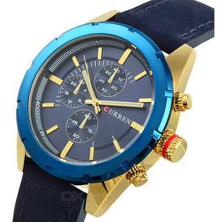 Curren Quartz Watch Leather Strap Casual Mens wrist watch