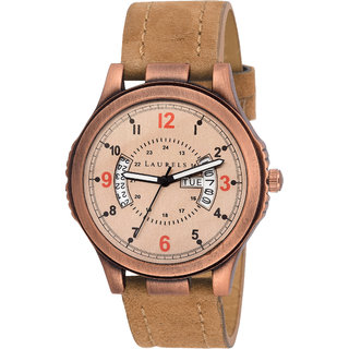 Laurels Round Dial Brown Analog Watch For Men-Lo-Lk-090909