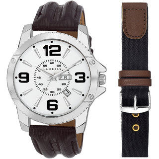 Laurels Round Dial Brown Analog Watch For Men-Lo-Zs-070907S