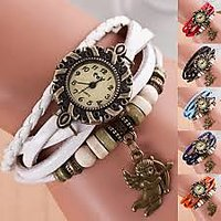 New Colleg Looks Leather Strap Watch Hand-knitted Leather Watch Women' Watches