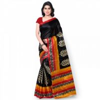 Janasya kids Multi Printed Art Silk Saree JNE1055-MULTI-SR-KS02