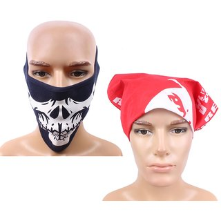 Sushito Winter Protect Half Face Mask Combo Headwrap JSMFHFM0555-JSMFHHR0186