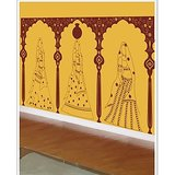 Gloob Decal Style Traditional Woman Wall Sticker (12*64)