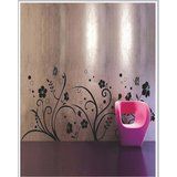 Gloob Decal Style Floral At Wall Sticker (24*56)