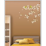 Gloob Decal Style White Floral Wall Sticker (30*30)