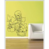 Gloob Decal Style Barbie Girl Wall Sticker (21*27)