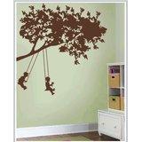Gloob Decal Style Swinging Kids Wall Sticker (56*57)