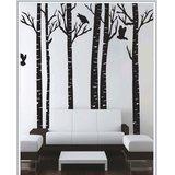 Gloob Decal Style Bamboo Tree Wall Sticker (42*49)