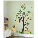 Gloob Decal Style Jungle Family Wall Sticker (29*32)