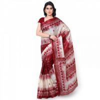 Janasya Kid's Multi Printed Art Silk Saree JNE1064-MULTI-SR-KS11