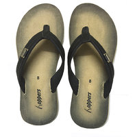 Hoppers Polo Beige Black Slippers