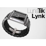 Lunatik Lynk All Aluminum Wrist Band Watch Case For Apple Ipod Nano 6 6g Black